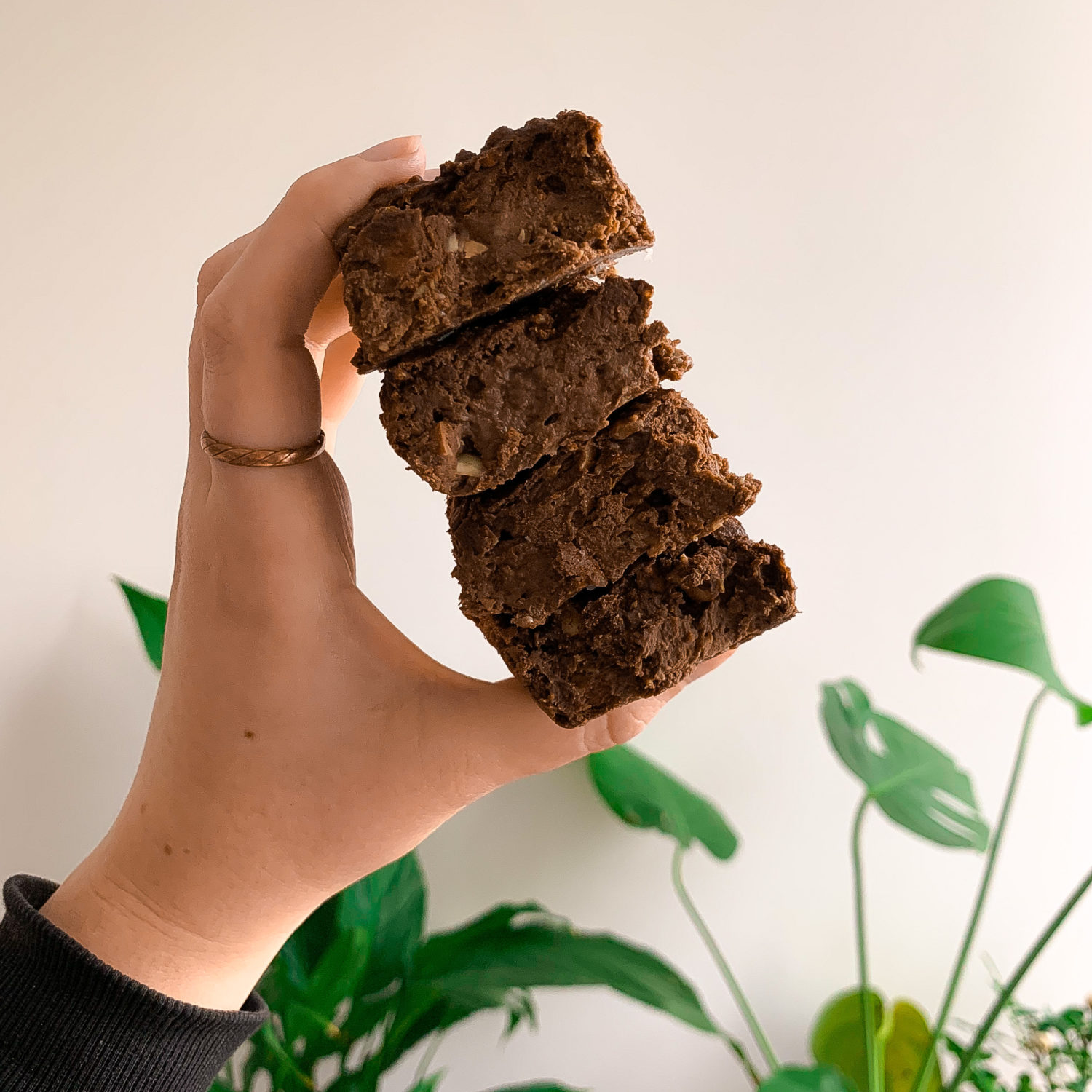 Easy vegan oat pulp brownies using the oat pulp leftover from making homemade oat milk.